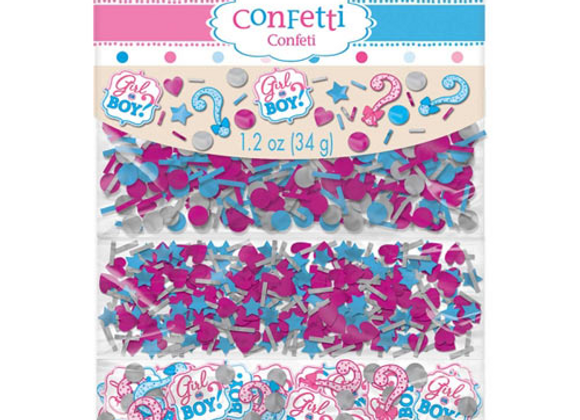 Gender Reveal Party Table Confetti