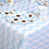 Thumbnail: Blue And White Paper Table Cover