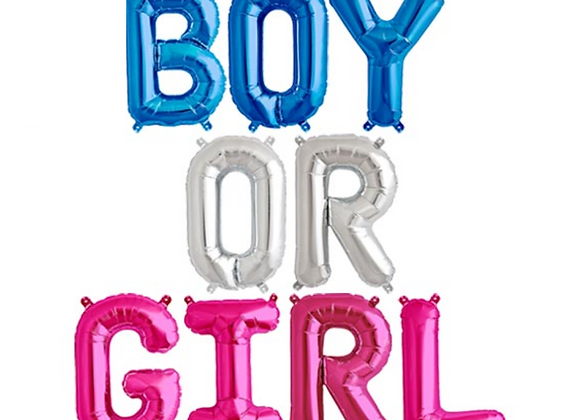 Boy Or Girl Balloon Garland