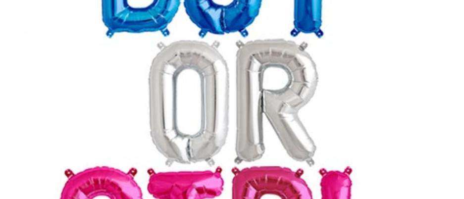Boy Or Girl Balloon Garland