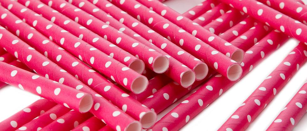 Hot Pink Paper Straws