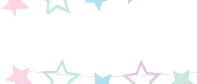 Pastel Stars Garland