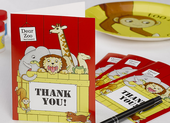 Dear Zoo Thank You Cards