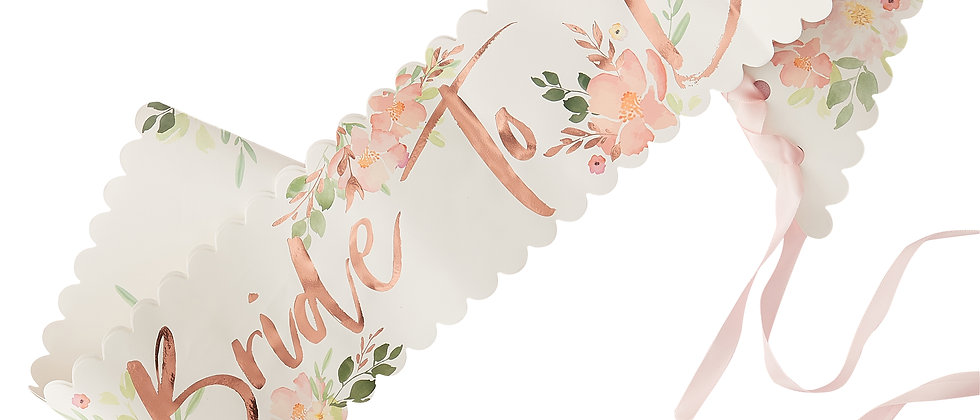 Floral Bride To Be Sash