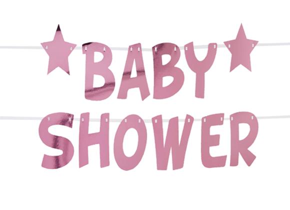 Pink Baby Shower Garland