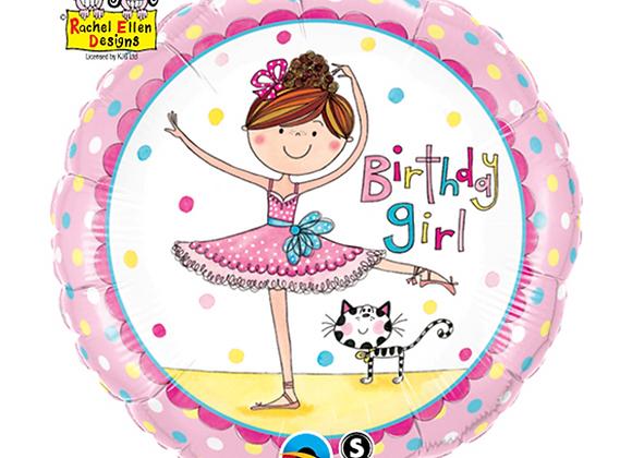 Ballerina Foil Balloon