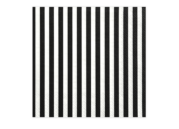 Black And White Striped Napkins x 20