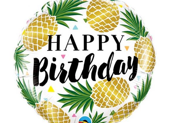 foil balloon, pineapple theme, summer balloon