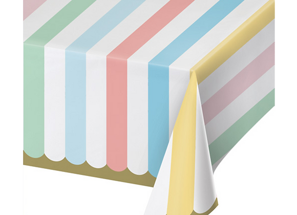 Pastel Stripes Table Cover