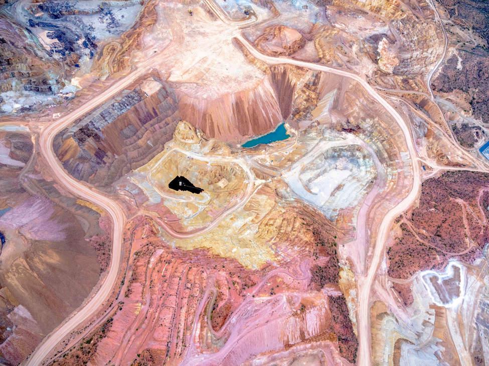 'Core Work' - Copper Mine, Tucson, Arizona