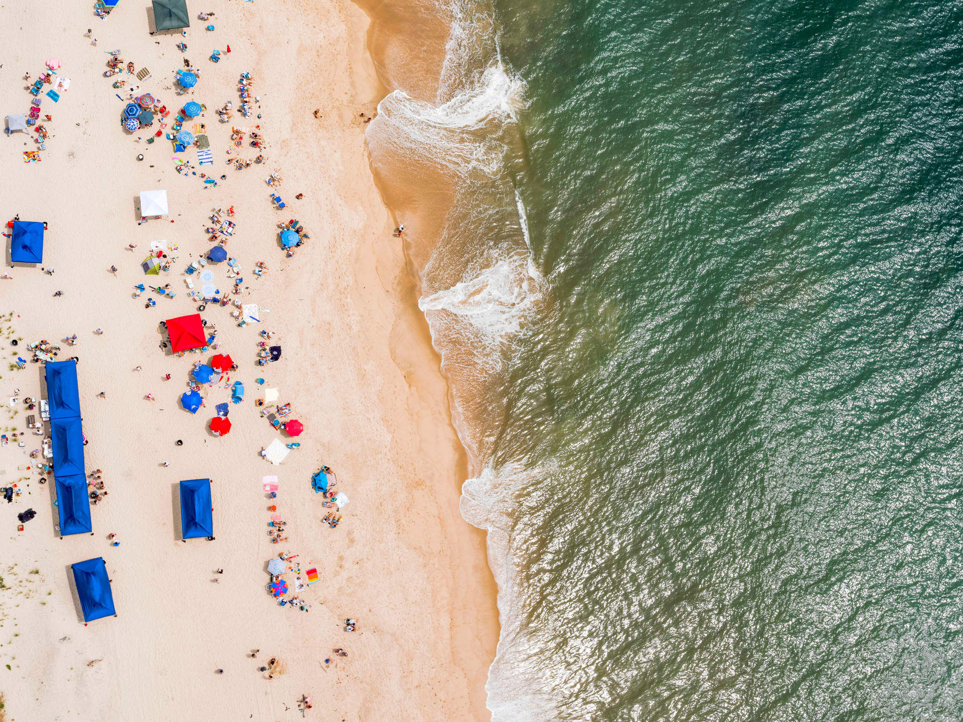 'Amagansett Umbrellas' at Atlantic beach