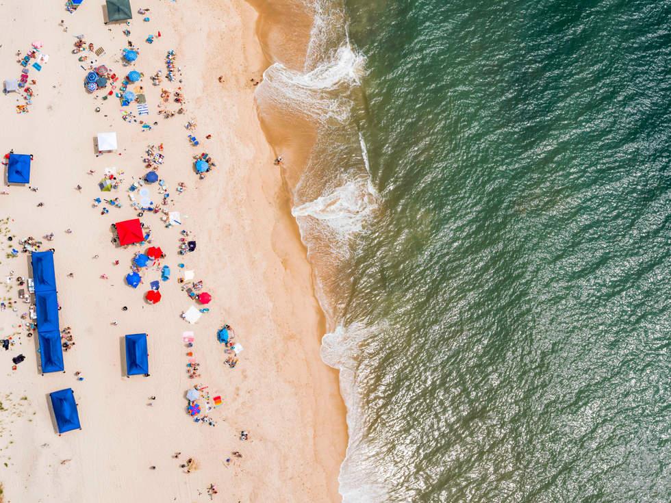 'Amagansett Umbrellas' at Atlantic beach