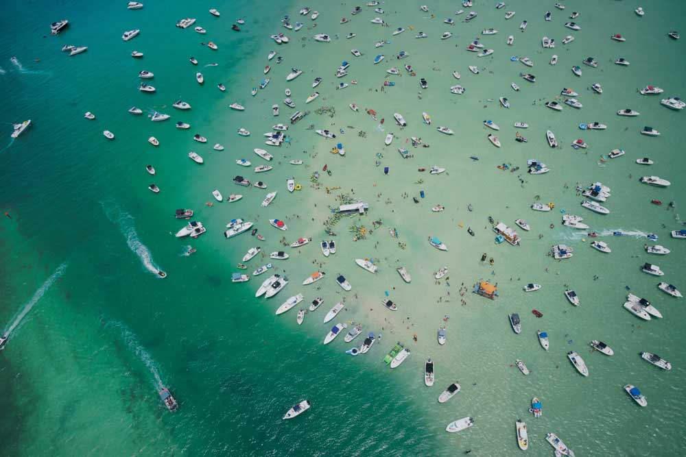 'We Came to Party',  Haulover Sandbar, South Beach, Florida