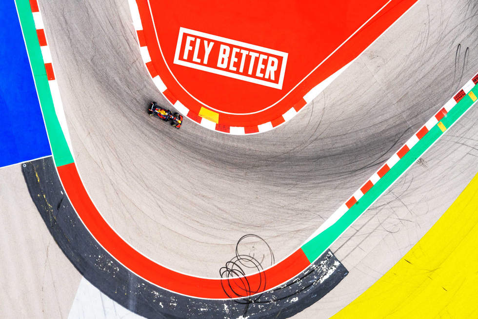 'Fly Better', Formula 1, Circuit of the Americas, Austin, Texas