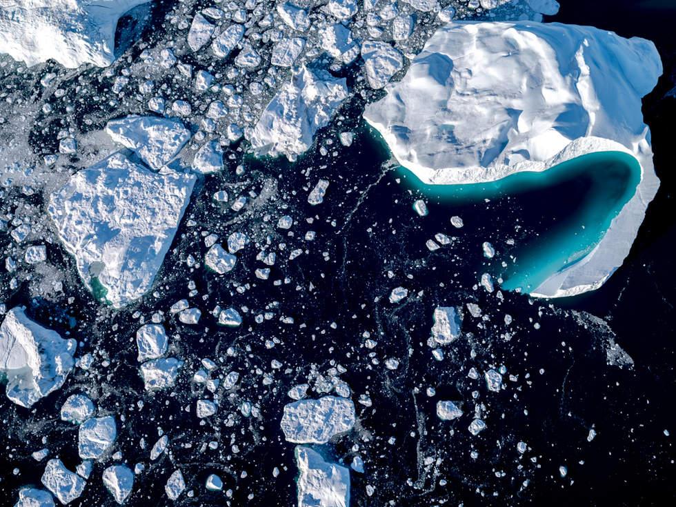 'Pacman', Icefjord Glacier, Illustiat, Greenland