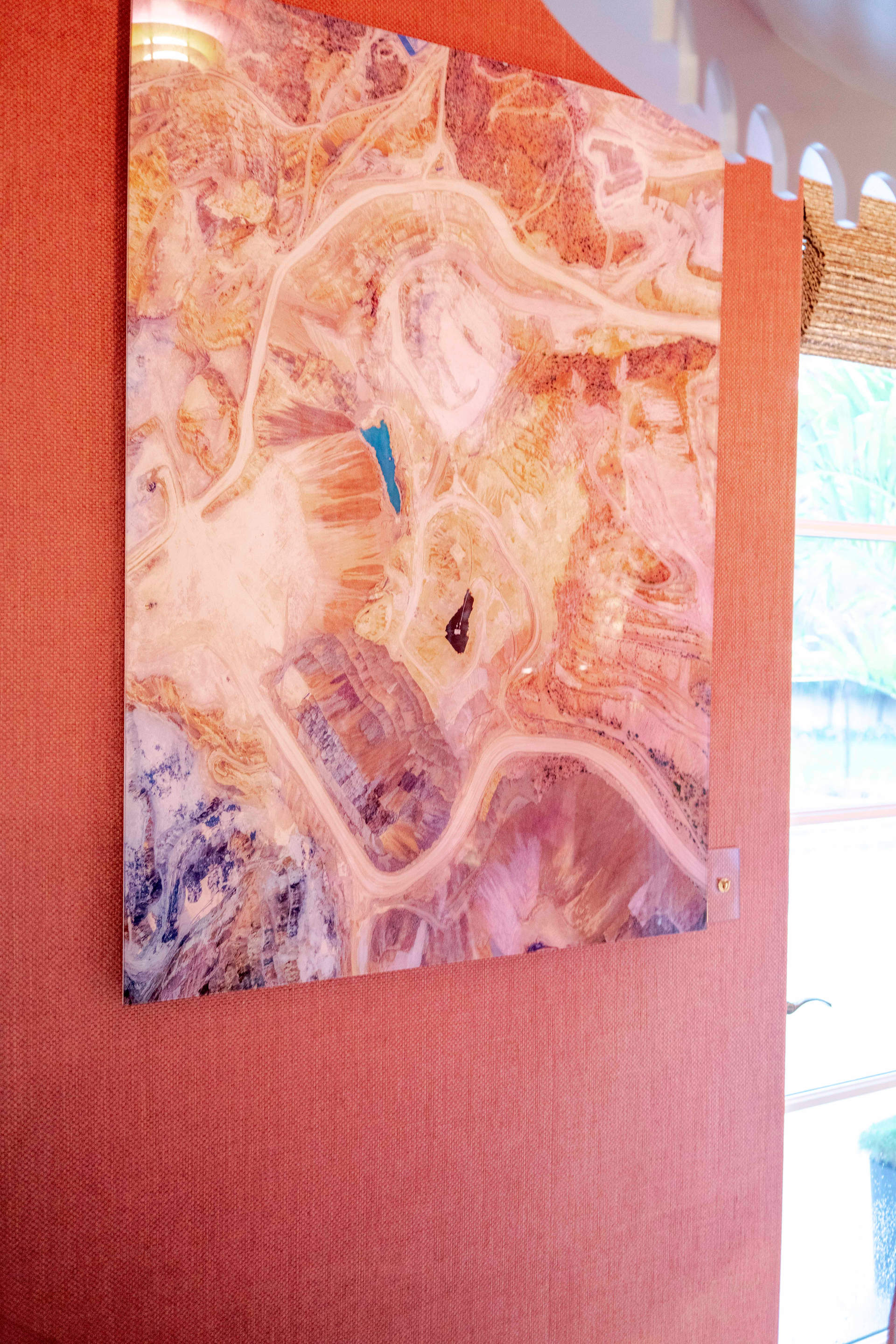 'Core Work' installed in Mark Finlay interiors room