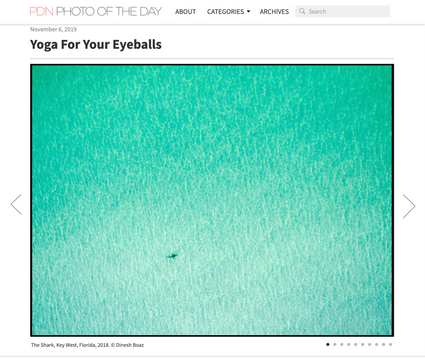 PDN Photo of the Day feature.  'Yoga for your Eyeballs'