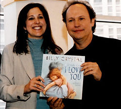Brand consultant Miriam Arond with Billy Crystal at book signing