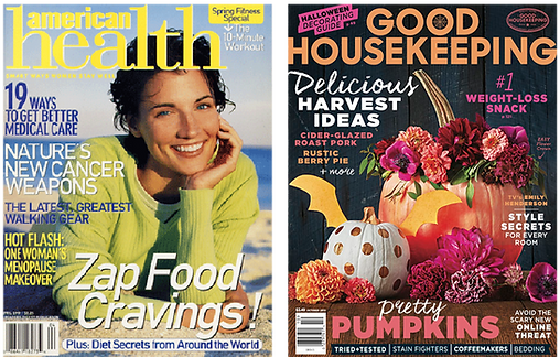 Good Housekeeping, Child magazine, and American Health magazines