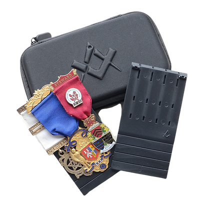 Masonic Jewel Holder with Zip Case