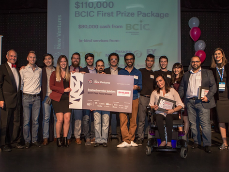 Ecoation Won the First Prize at the New Ventures BC Competition