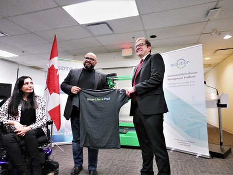 Ecoation received $3M investment from Federal Government of Canada.