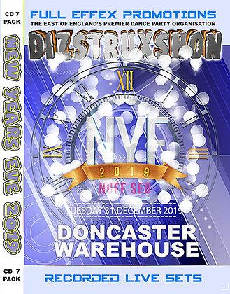 Dizstruxshon NYE 2019 CD pack x 7