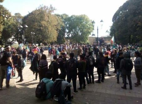 Mapuches marchan por desmilitarización de La Araucanía, Chile