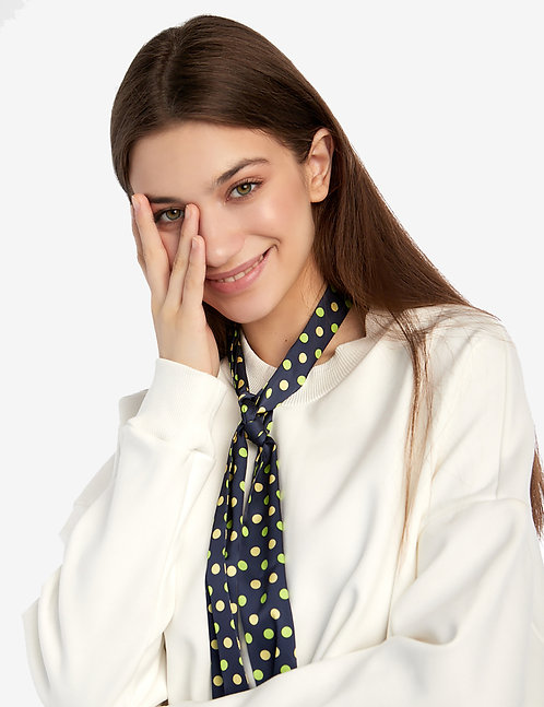 Twilly scarf polka dot