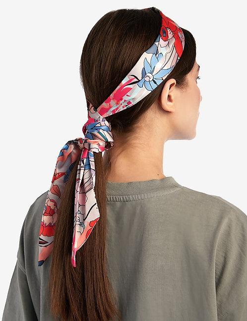 Twilly scarf grey floral print