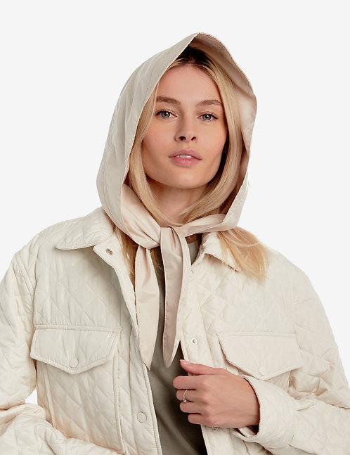 Head hooded waterproof scarf beige