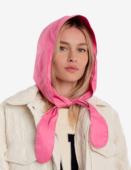 Head hooded waterproof scarf pink