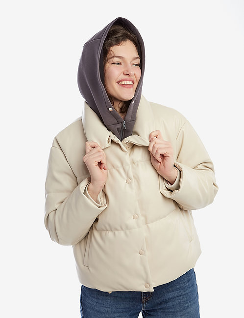 Classical Hooded Scarf with mock collar