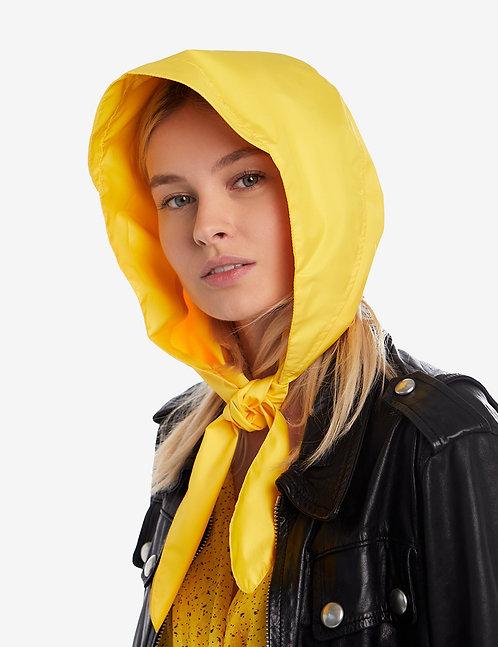 Head hooded waterproof scarf yellow