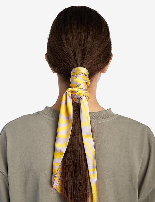 Twilly scarf yellow zebra