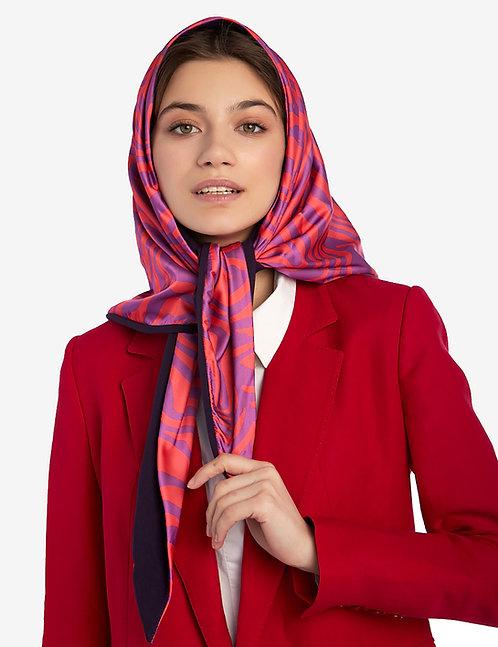 Head shawl pink zebra