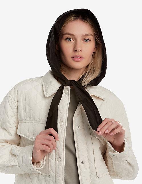 Head hooded waterproof scarf black