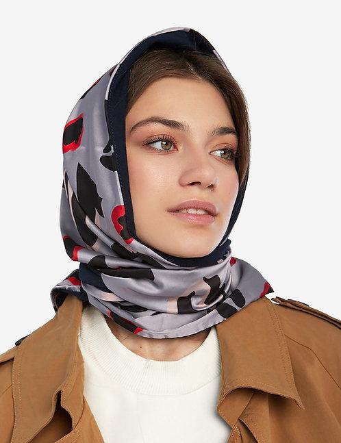 Head shawl grey abstract