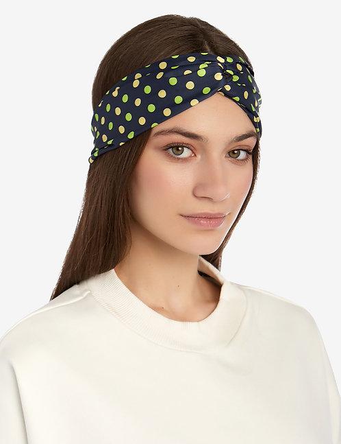 Head band blue polka dot