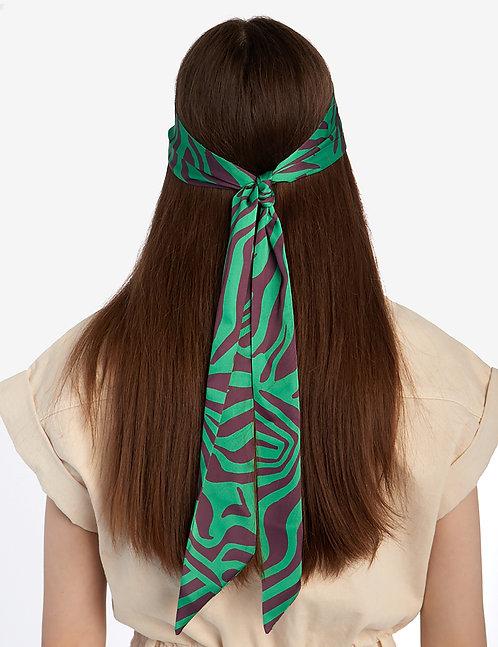Twilly scarf animalistic print