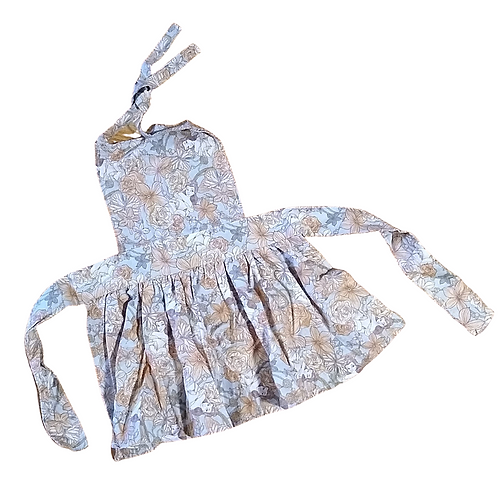 Belle Floral Kids Pleated Apron (Small 1-3y)