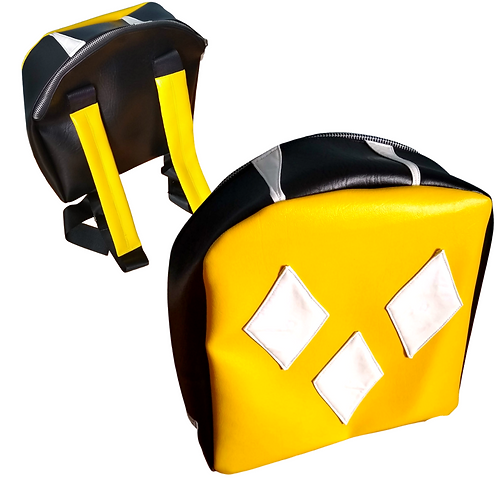 Vinyl Backpack Purse (Inspired by the Yellow Power Ranger)