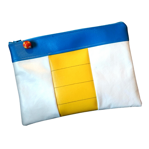 White, Yellow & Blue Clutch Purse (Inspired by Dragonball Z)