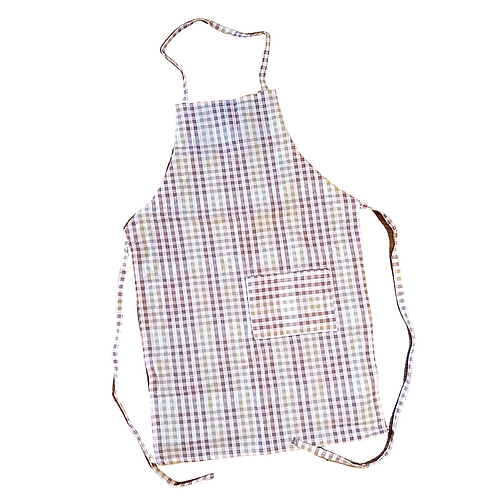 Fall Gingham Kids Apron (Large 5-8y)