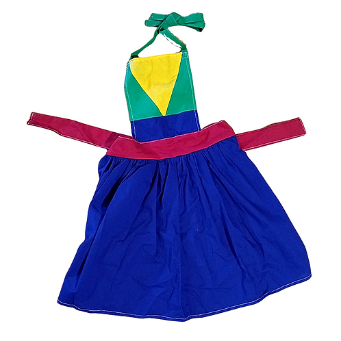 Mulan Inspired Kids Pleated Apron (Large 5-8y)