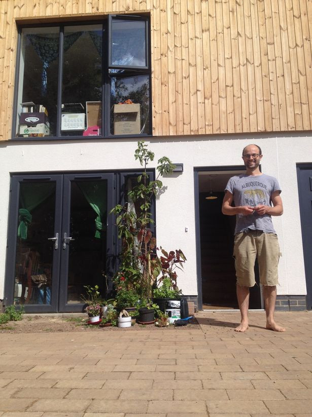 One of the Fishponds Road residents, Martin, with his new home