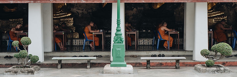 Monks sit an ESL exam.jpg