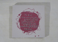 The Real (painted poem)