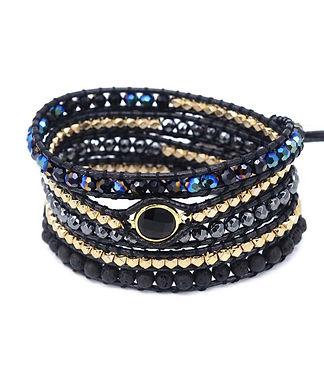 Handmade Genuine Leather/Gemstone Bracelet