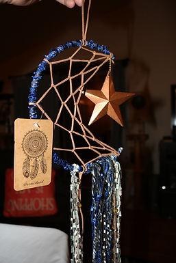 Handmade Star & Moon Dream Catcher